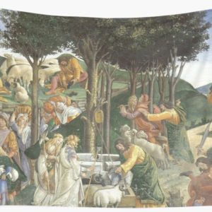 Trials of Moses Painting by Botticelli - Sistine Chapel Wall Tapestries