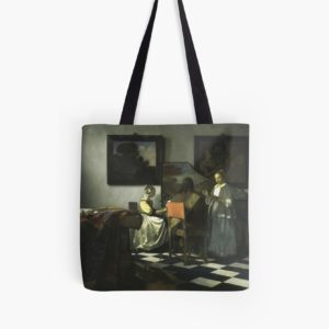 Stolen Art - The Concert by Johannes Vermeer Tote Bags