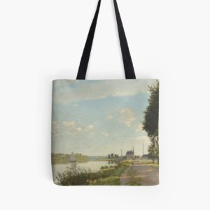 Argenteuil by Claude Monet Tote Bags