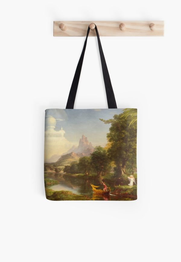 The Voyage of Life Youth Painting by Thomas Cole Tote Bags