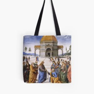 The Delivery of the Keys Painting by Perugino Sistine Chapel Tote Bags