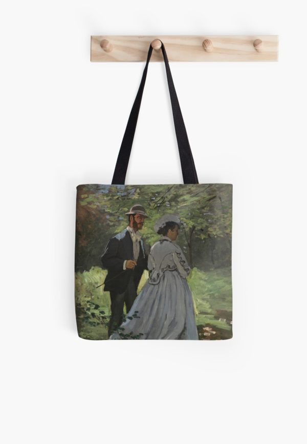 Bazille and Camille Painting by Claude Monet Tote Bags