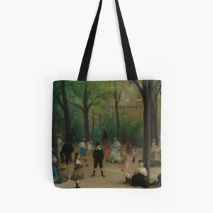 Luxembourg Gardens Oil Painting by William James Glackens Tote Bags
