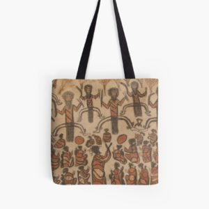 Wurundjeri People Charcoal Drawing by Australian William Barak Tote Bags