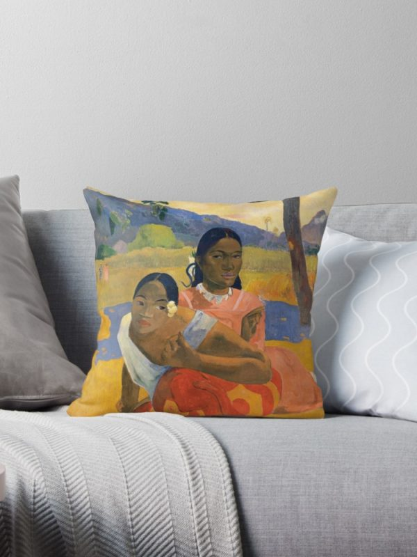 Affordable Art $300,000,000 When Will You Marry by Paul Gauguin Throw Pillows