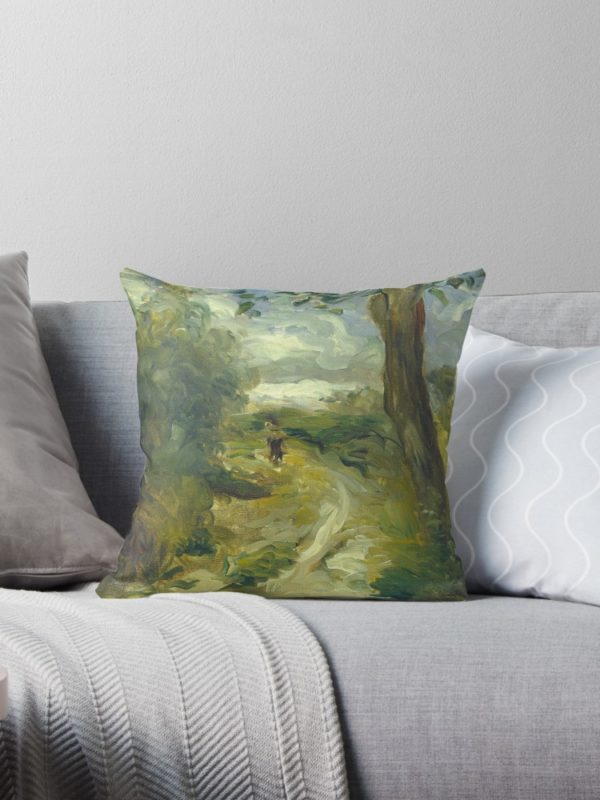 Landscape Between Storms Oil Painting by Auguste Renoir Throw Pillows