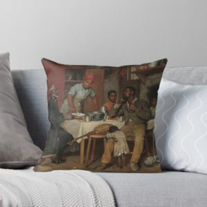 A Pastoral Visit Oil Painting by Richard Norris Brooke Throw Pillows