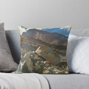 Simplon Pass Oil Painting by  John Singer Sargent Throw Pillows