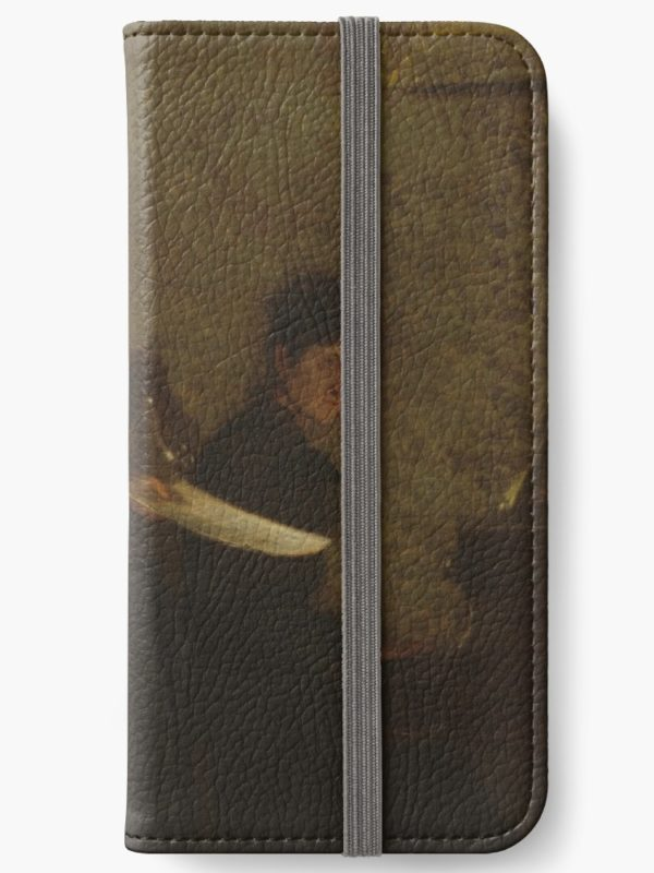 Singing a Pathetic Song Oil Painting by Thomas Eakins iPhone Wallets