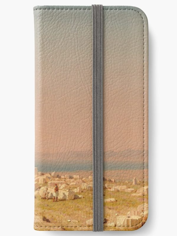 Ruins of the Parthenon Oil Painting by Sanford Robinson Gifford iPhone Wallets