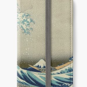The Classic Japanese Great Wave off Kanagawa by Hokusai iPhone Wallets