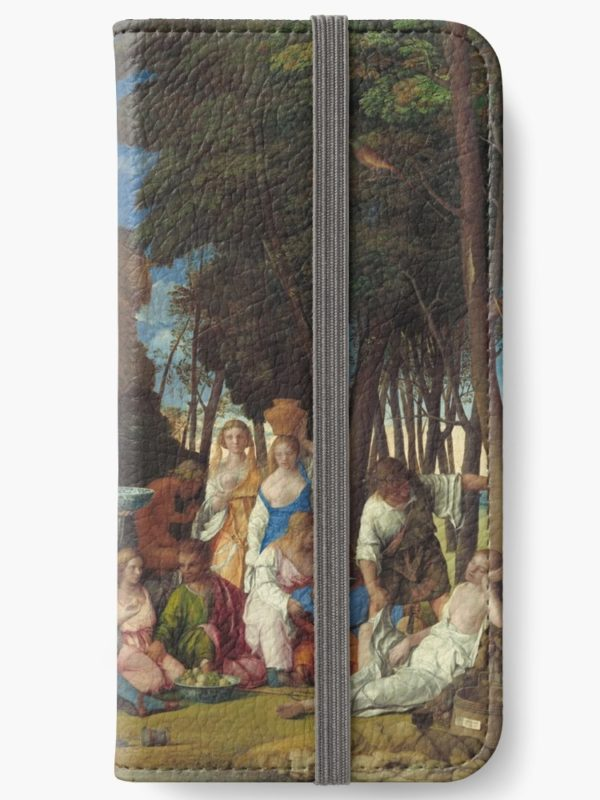 The Feast of the Gods Painting by Giovanni Bellini and Titian iPhone Wallets