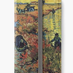 The Red Vineyards Oil Painting on Burlap by Vincent van Gogh iPhone Wallets