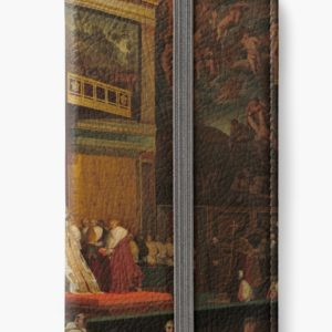 Pope Pius VII in the Sistine Chapel Oil Painting by Jean-Auguste-Dominique Ingres iPhone Wallets
