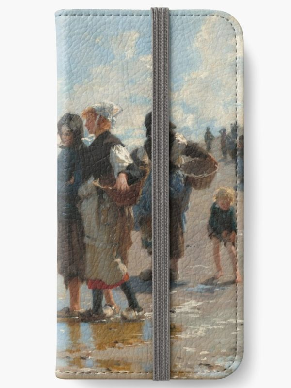 Setting Out to Fish Oil Painting by John Singer Sargent iPhone Wallets