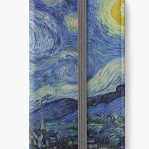Starry Night Oil painting by Vincent van Gogh iPhone Wallets