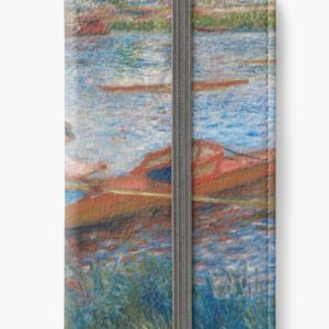 Oarsmen at Chatou Painting by Auguste Renoir iPhone Wallets