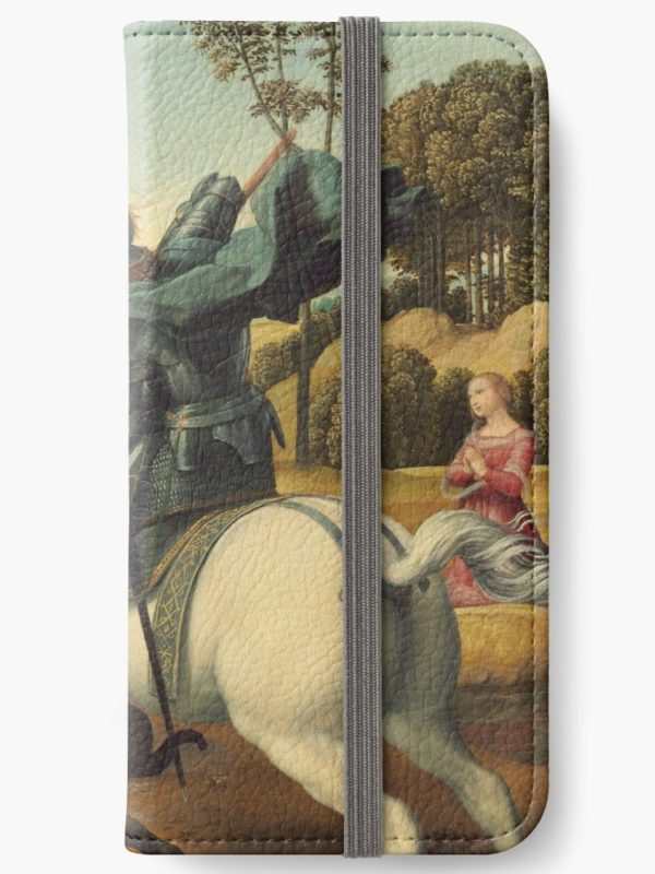 Saint George and the Dragon Oil Painting By Raphael iPhone Wallets