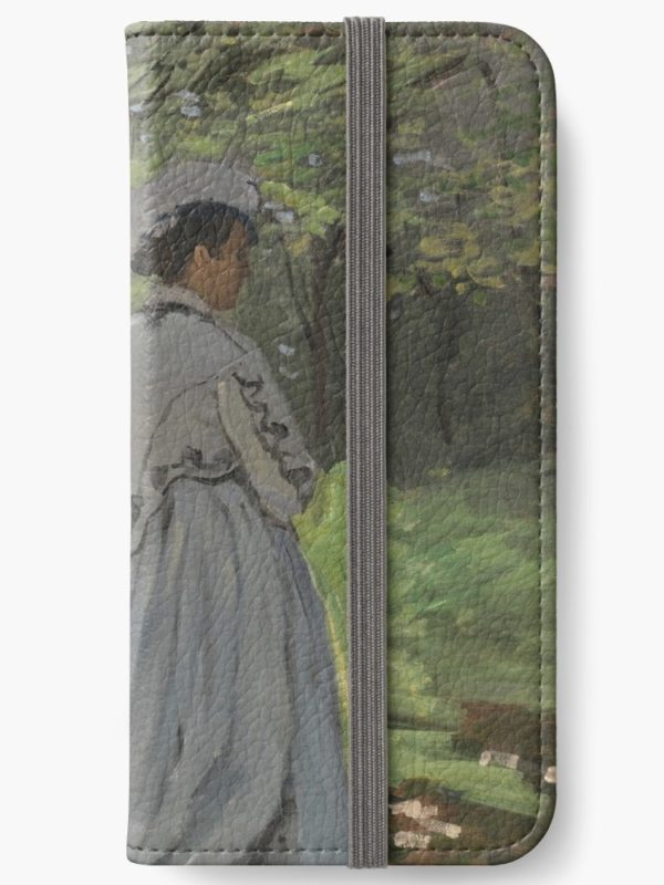 Bazille and Camille Painting by Claude Monet iPhone Wallets