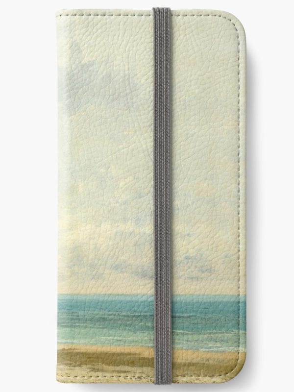 Calm Sea Oil Painting by Gustave Courbet iPhone Wallets