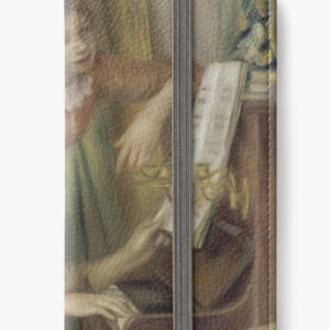 Young Girls at the Piano Oil Painting by Pierre Auguste Renoir iPhone Wallets