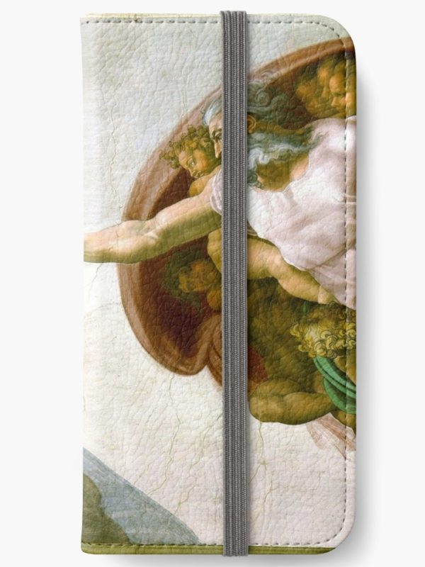 The Creation of Adam Painting by Michelangelo Sistine Chapel iPhone Wallets