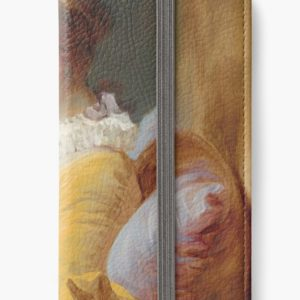 Young Girl Reading Painting by Jean-Honoré Fragonard iPhone Wallets