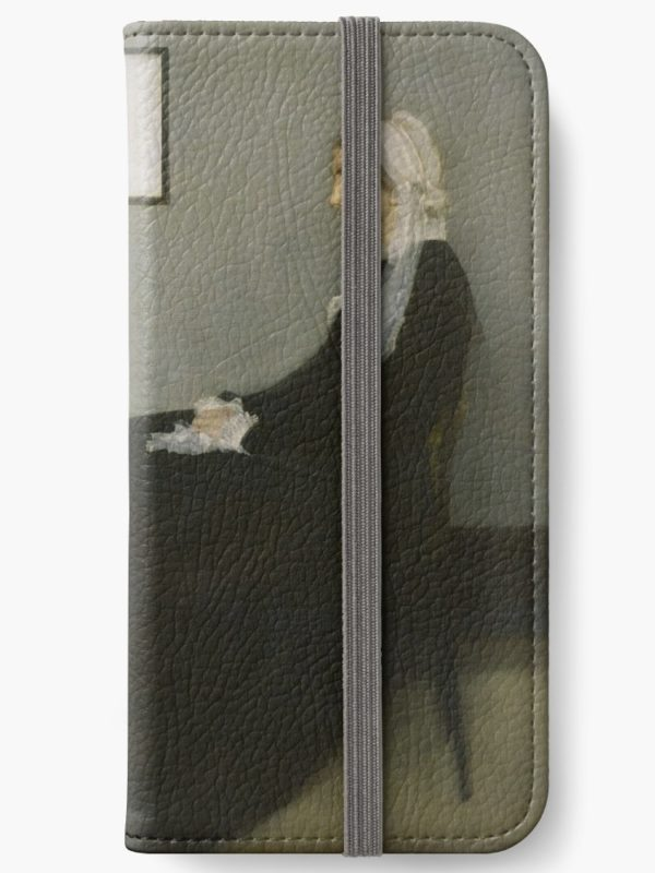 Whistlers Mother Oil Painting by James McNeill Whistler iPhone Wallets