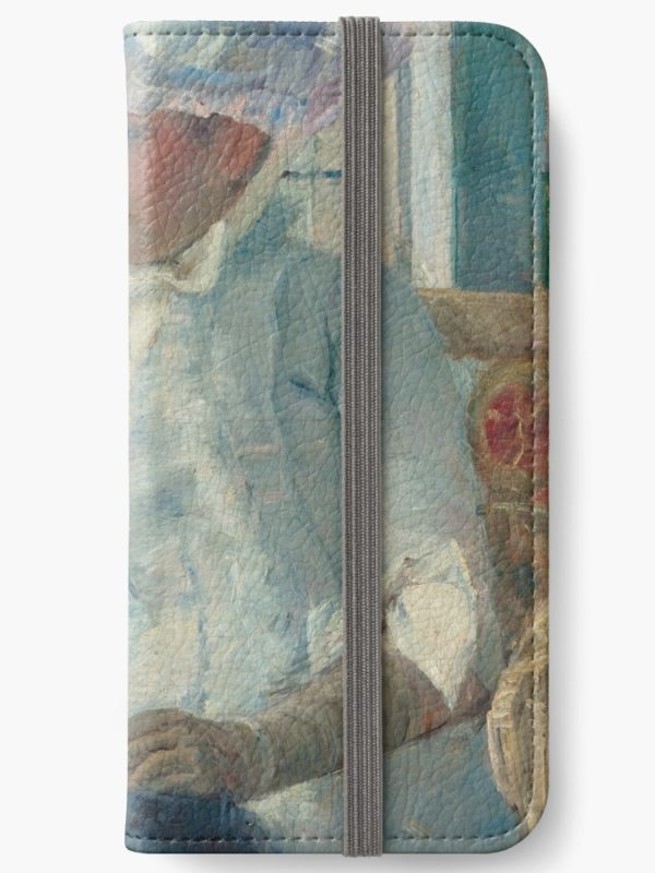 Young Girl at a Window Oil Painting by Mary Stevenson Cassatt iPhone Wallets