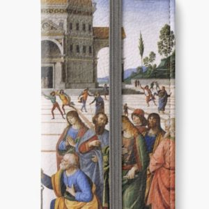 The Delivery of the Keys Painting by Perugino Sistine Chapel iPhone Wallets