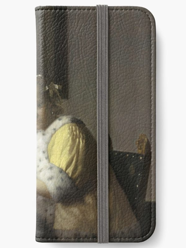 A Lady Writing Oil Painting by Johannes Vermeer iPhone Wallets