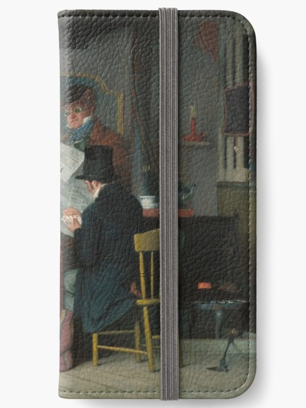 Waiting for the Stage Oil Painting by Richard Caton Woodville iPhone Wallets