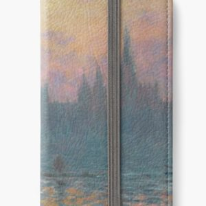 The Houses of Parliament  Sunset by Claude Monet iPhone Wallets
