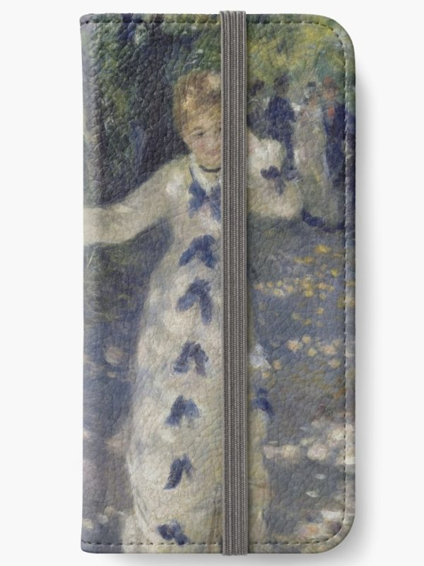 The Swing Oil Painting by Auguste Renoir iPhone Wallets
