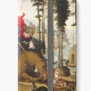 Saint George and the Dragon Oil Painting by Sodoma iPhone Wallets