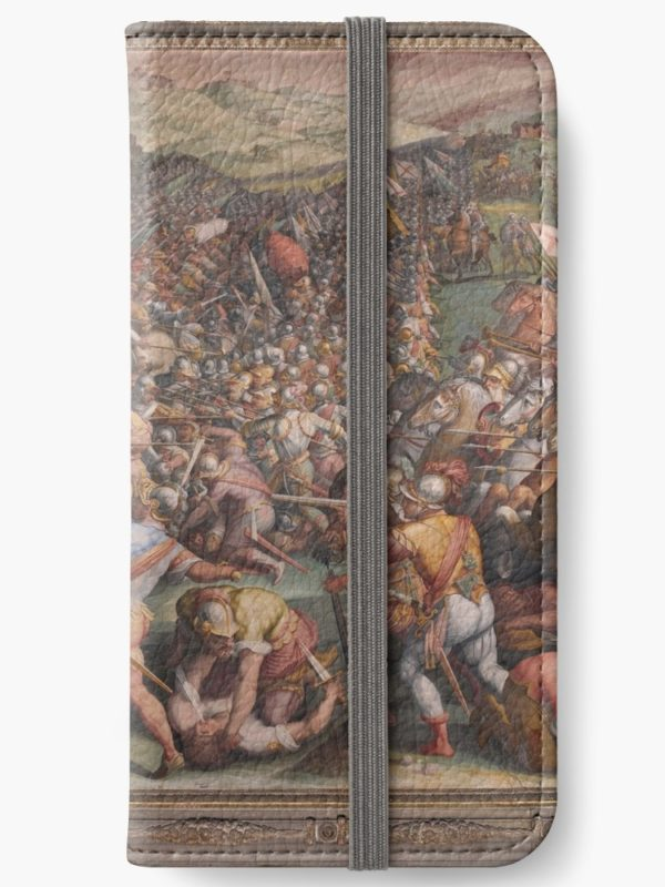 Classic Art The battle of Marciano in Val di Chiana By Giorgio Vasari iPhone Wallets