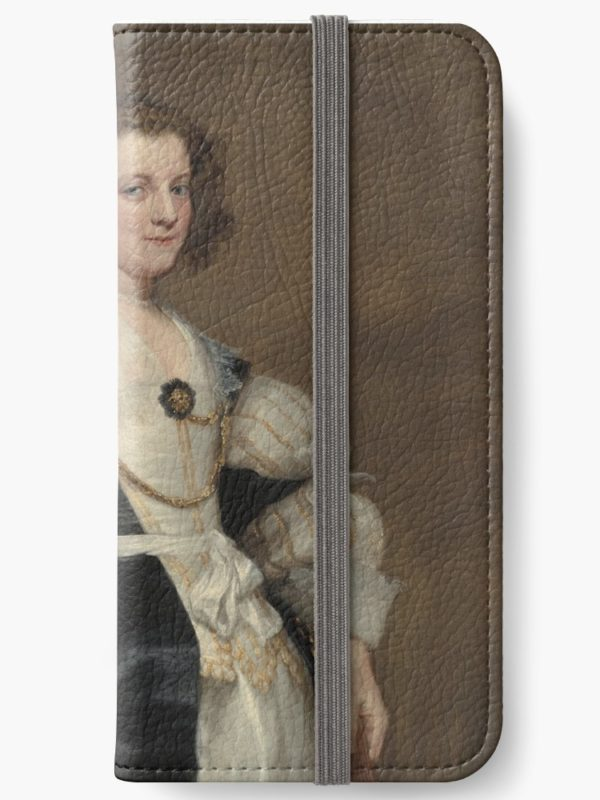 Lady with a Fan Oil Painting by Sir Anthony van Dyck iPhone Wallets