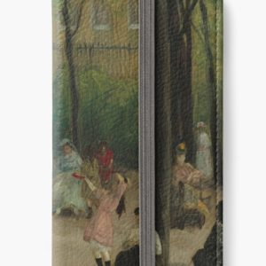 Luxembourg Gardens Oil Painting by William James Glackens iPhone Wallets