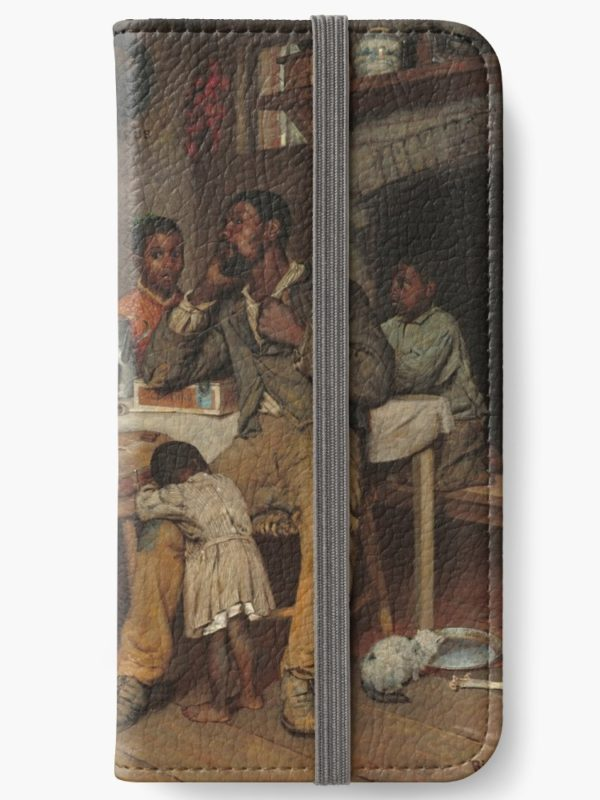 A Pastoral Visit Oil Painting by Richard Norris Brooke iPhone Wallets