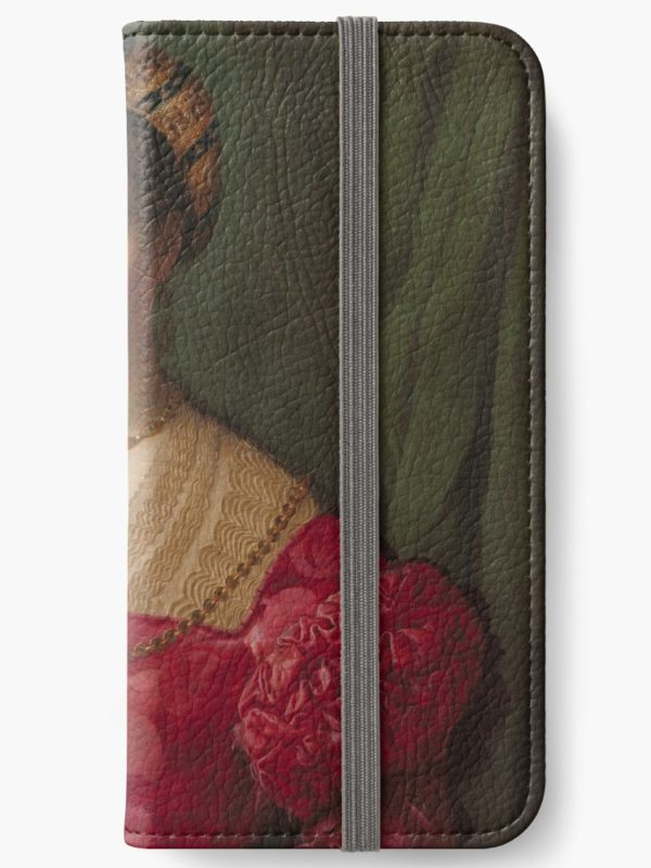 A Young Woman and Her Little Boy Oil Painting by Agnolo Bronzino iPhone Wallets
