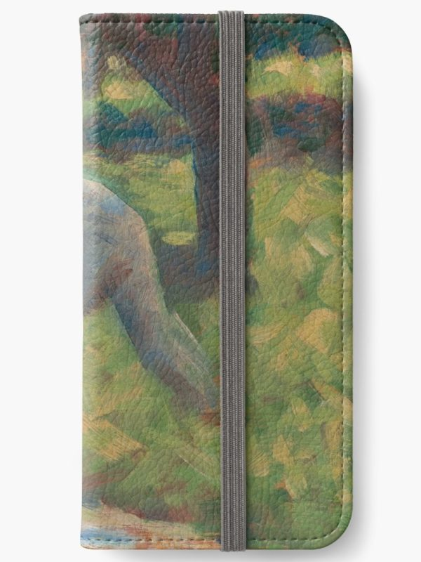 Peasant with a Hoe Oil Painting by Georges Seurat iPhone Wallets