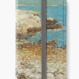 A North East Headland Oil Painting by Childe Hassam iPhone Wallets