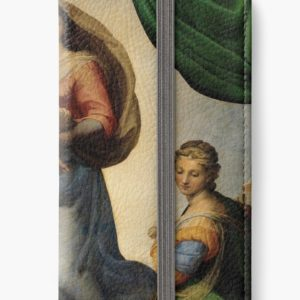 The Sistine Madonna Oil Painting by Raphael iPhone Wallets