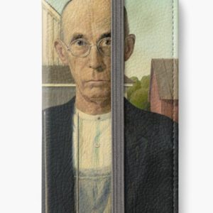 American Gothic Oil Painting by Grant Wood iPhone Wallets