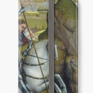 Saint George and the Dragon Oil Painting by Rogier van der Weyden iPhone Wallets