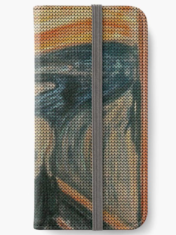 The Scream Lovingly Knitted by Granny E-Munch iPhone Wallets