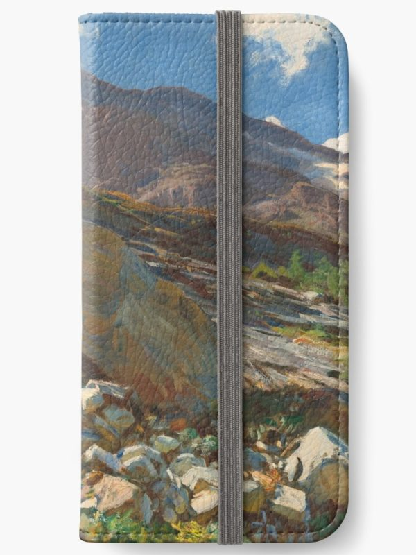 Simplon Pass Oil Painting by  John Singer Sargent iPhone Wallets